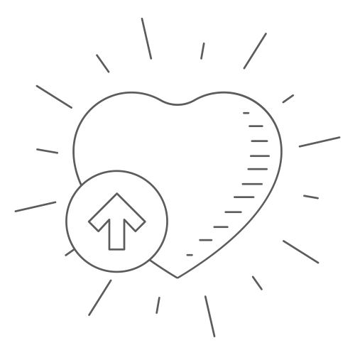 Heart icon with knowledge