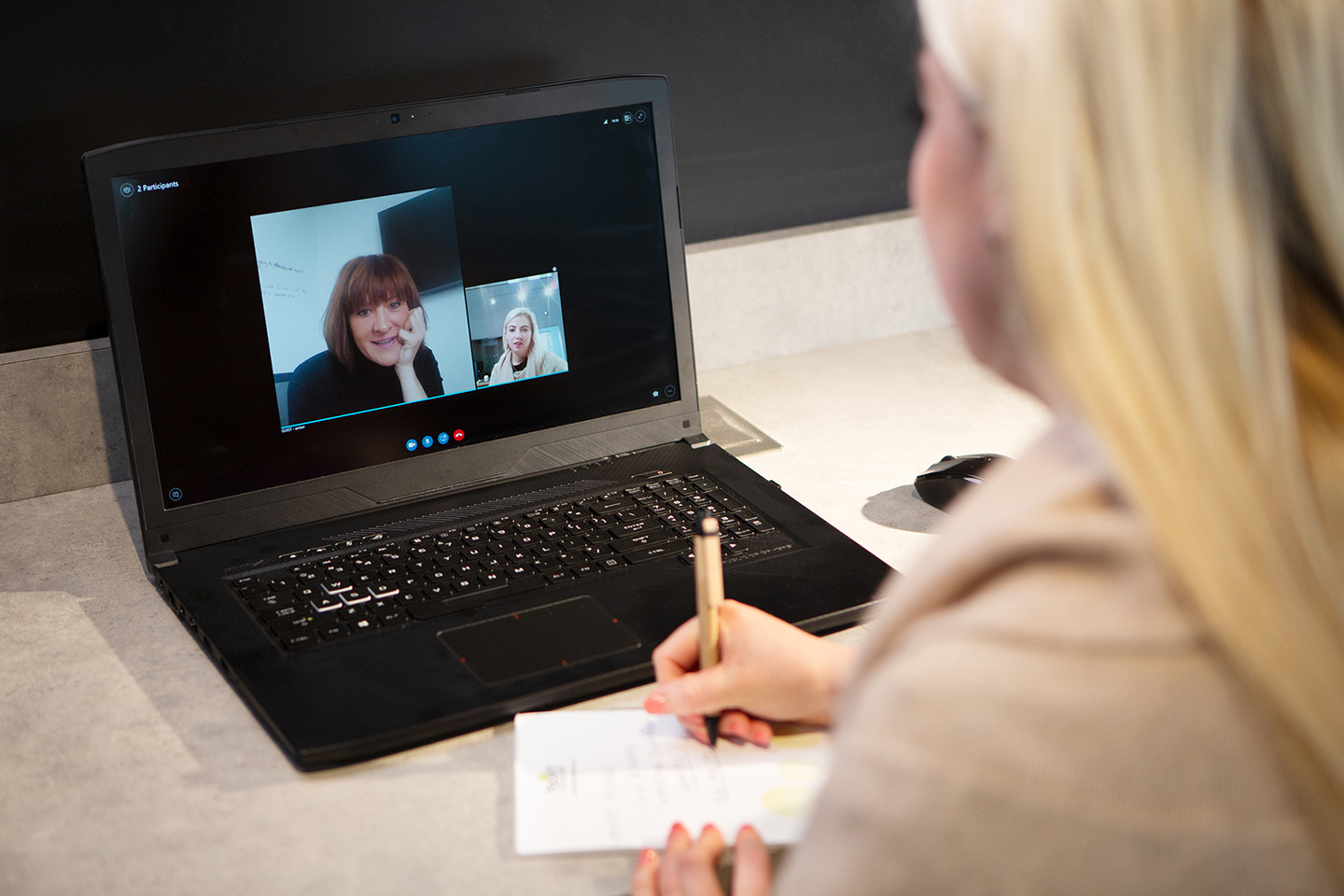 Photo of video peer coaching