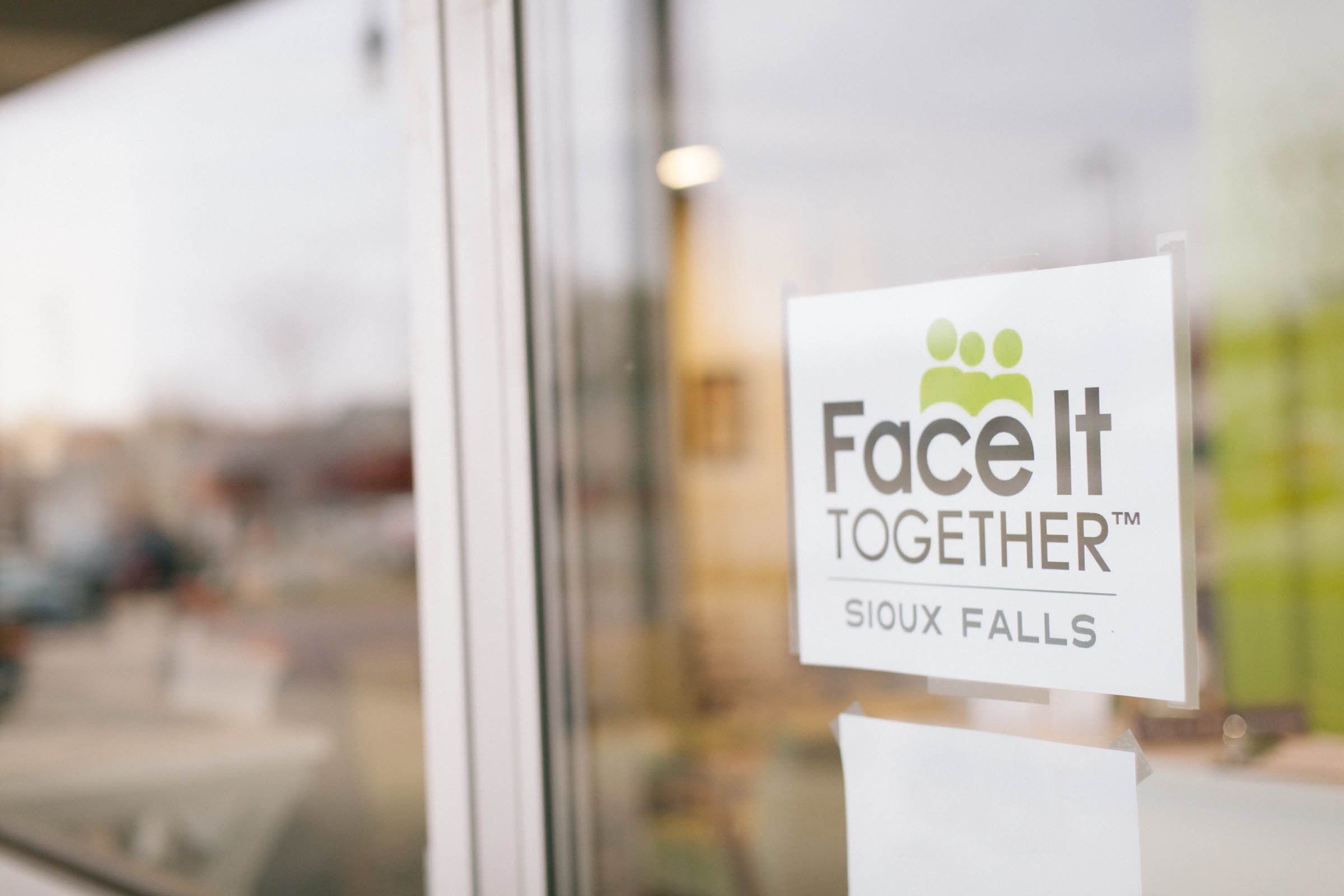 Photo of Face It TOGETHER Sioux Falls sign